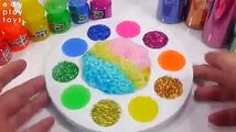 Learn Colors Slime Orbeez Toys All Mixing Slime Glitter DIY Clay Slime Toys For Kids