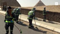 The Giza pyramids in Egypt are also being disinfected from the coronavirus