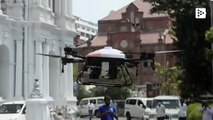 India disinfects the streets of coronavirus with drones