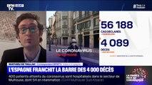 Coronavirus: en Espagne, 4089 morts depuis le début de l'épidémie