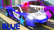 Learn Colors Police Mcqueen fall into Tube full of candy. Mack Truck Rainbow for Kids Children