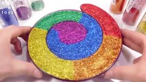 Learn Colors For Kids Slime Mixing All Colors Glitter Water Slime Clay Toys For Kids