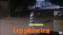 Couvre feu : Regardez comment cet homme s'est échappé devant les policiers