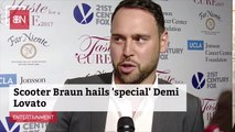 Scooter Braun Appreciates Demi Lovato