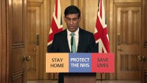 Rishi Sunak attends daily briefing on coronavirus outbreak