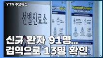 신규 환자 91명...검역으로 13명 확인 / YTN