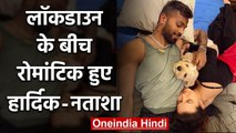 Hardik's fiancee Natasa shares an adorable picture with pandya during Lockdown | वनइंडिया हिंदी