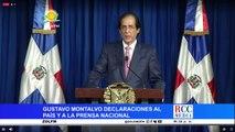 Declaraciones de Gustavo Montalvo al país y al prensa nacional