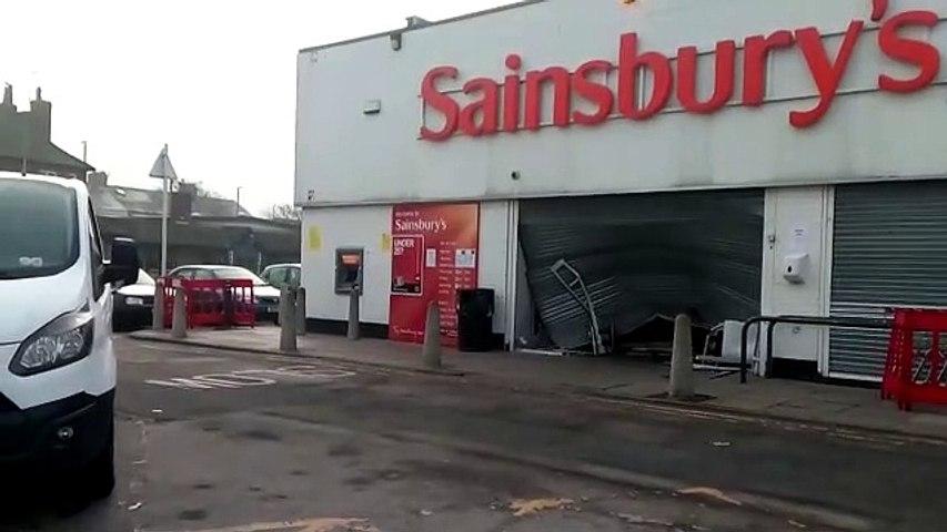 Shocking damage to Sainsbury's in Sea Road, Sunderland on Friday, March 27