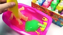 Number Counting Baby Doll Slime Bath Time Learn Colors Surprise Toys Video