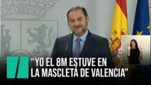 """Ábalos: """"Yo el 8M estuve  en la Mascletá de Valencia"""""""