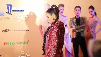 Thảm đỏ chung kết The Face Vietnam 2018- Dàn mỹ nhân Vbiz diện đầm cắt xẻ gợi cảm