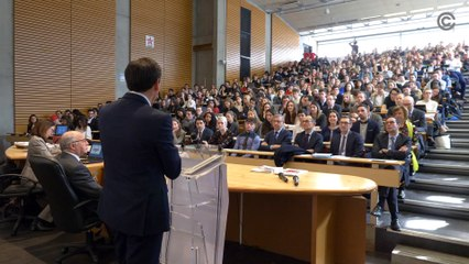 Laurent Fabius à la faculté de droit de Lyon le 12 mars 2020