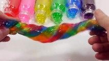 Learn Colors Slime Toys Lego Gummy DIY Rainbow Slime Jelly Bottle Mix