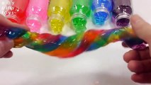 Learn Colors Toys Slime Lego Gummy DIY Jelly Rainbow Slime Mix Bottle Toys For Kids