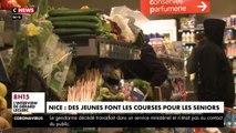 CORONAVIRUS - A Nice, pendant cette période de confinement, des jeunes font des courses pour les seniors - VIDEO
