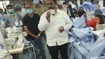 ಬೆಂಗಳೂರಿನ ಗಾರ್ಮೆಂಟ್ ಫ್ಯಾಕ್ಟರಿಯಲ್ಲಿ ವೈದ್ಯರು ಮತ್ತು ಸಿಬಂಧಿಗಳಿಗೆ ಐಸಿಯು ಸೂಟ್ ಗಳು