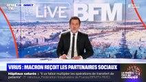 Virus : Macron reçoit les partenaires sociaux - 27/03