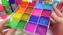 Learn Colors Numbers Slime Counting Surprise Toys All Colors Combined Slime Glitter Case Toys For Kids