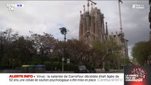 Coronavirus: les rues de Barcelone sont pratiquement désertes