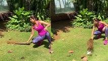 Shilpa Shetty ने Quarantine के दौरान घर पर बनी Maid, लगाई झाड़ू |FilmiBeat