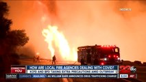 How are local fire agencies dealing with the coronavirus outbreak?