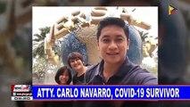 Atty. Carlo Navarro, CoVID-19 survivor