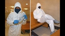 Pras Michel wears full Tyvek suit to court over coronavirus fears