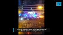 Conmovedor homenaje en Madrid a profesionales de la salud