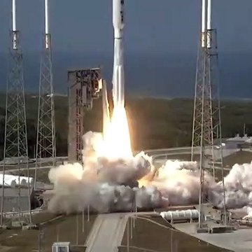 U.S. Air Force launches Atlas V, a rocket with a satellite on board