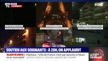 Aux fenêtres, les Français applaudissent les soignants ce vendredi