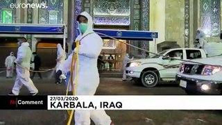 Iraq's holy city Karbala disinfected as coronavirus hits religious tourism