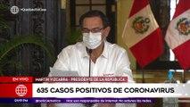 Edición Mediodía: Presidente Vizcarra confirmó 635 casos positivos de contagio