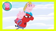 Peppa Pig Eating Lollipop New Episodes With Spiderman VENOM HULK Finger Family Nursery Rhymes Py