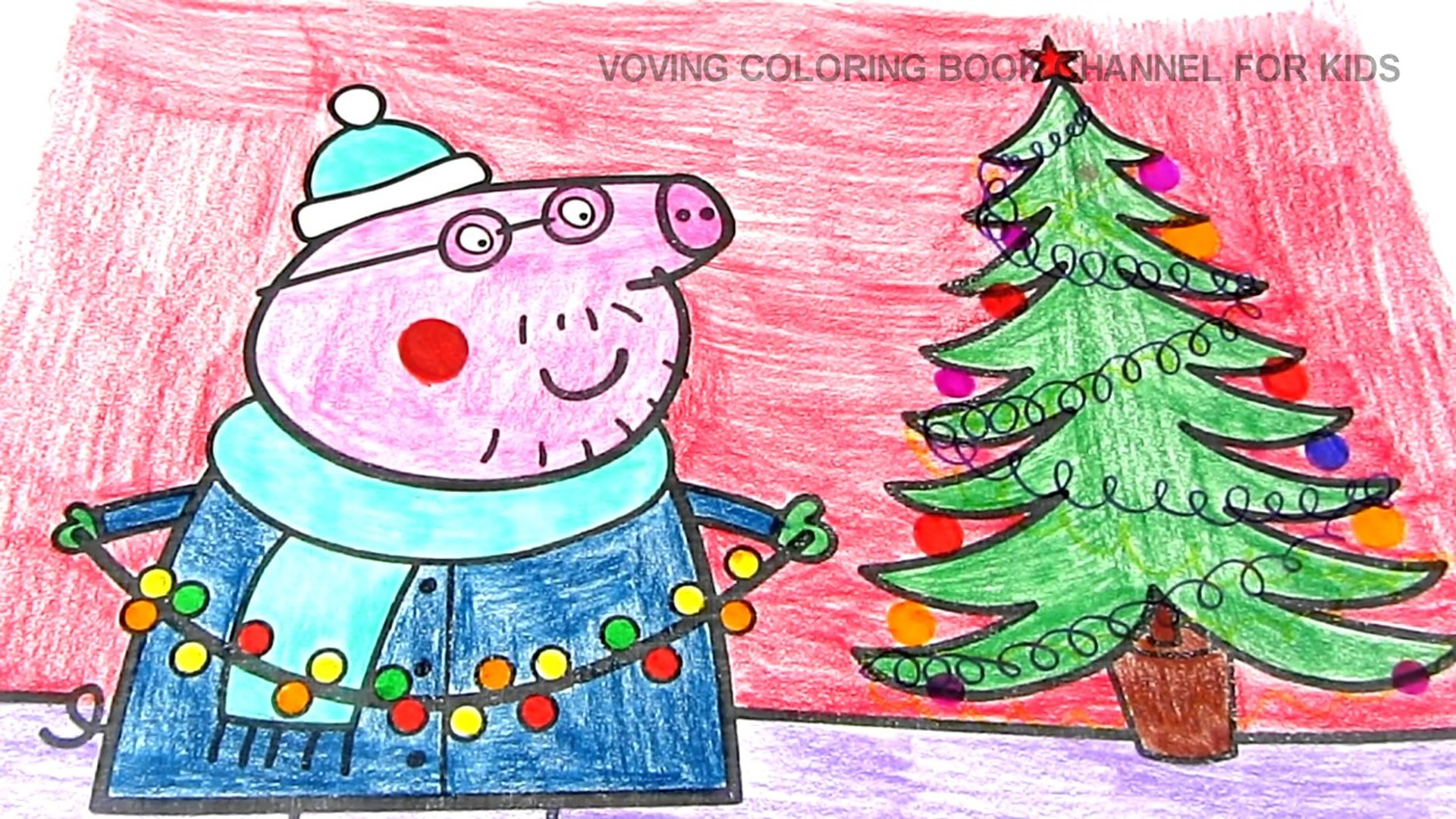 Peppa Pig Daddy Pig Christmas Coloring Book Pages Fun Coloring Video For Kids Video Dailymotion
