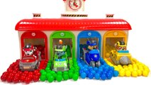 Paw Patrol Gumball Surprise in Tayo Garage   Colors with Fizzy Fun Toys