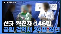 신규 환자 146명...공항 검역서 24명 확인 / YTN
