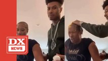 Blueface Pays His Mom $1K To Smash Eggs On Her Head For Instagram