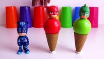 24.Pj Masks Balls Ice Cream Cones , Learn Colors with Pj Masks Wrong Heads