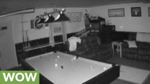 Security camera captures haunted garage footage