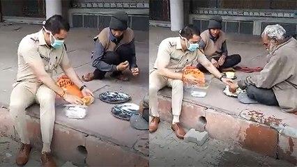 Policemen Feeding Beggars During Lockdown Is Heartwarming