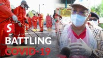 Major cleaning, disinfection exercise by DBKL, Alam Flora in Sri Petaling