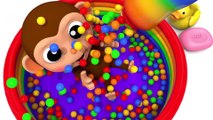 Learn Colors With Animal - Learn Colors with Gorilla Water Slide Finger Family Song for Kid Children