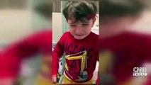 4 yaşındaki Poyraz'dan koronavirüs tedbiri... Babası görünce gözlerine inanamadı