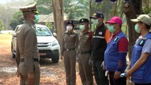 Thai police check cars travelling between provinces during coronavirus restrictions
