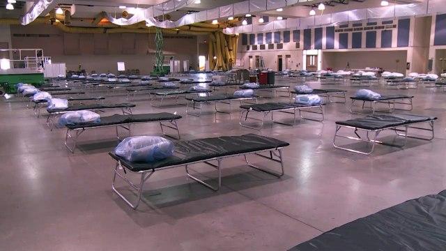 Coronavirus: LA field hospital set up but lacking doctors