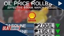 Oil price rollback, ipapatupad ngayong linggo