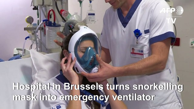 Coronavirus: Belgian hospital converts snorkelling masks into emergency ventilators