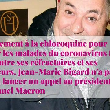 Jean-Marie Bigard défend la chloroquine : le professeur Didier Raoult l'a contacté