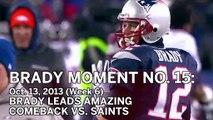 Tom Brady No. 15 Moment: Patriots Leads Last-Minute Comeback Against Drew Brees, Saints